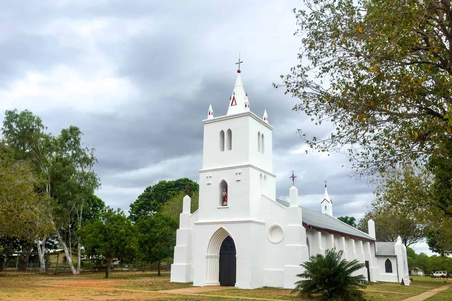 Sacred heart Church in Beagle Bay, Aboriginal Communities in Kimberly Outback of Western Australia