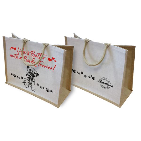 Large Border Terrier Canvas Bags