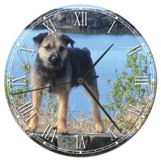 Personalised Border Terrier Clock