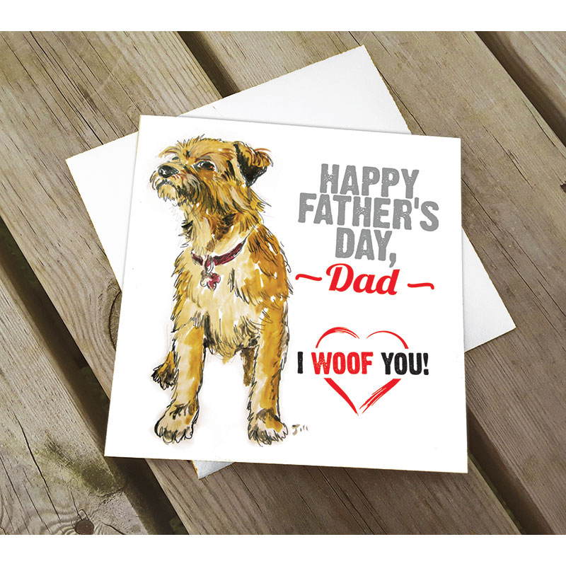 Border Terrier Father's Day Card