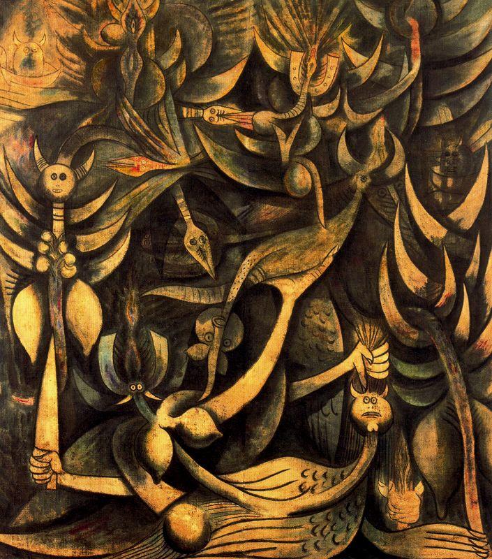 Wilfredo Lam Huracan 1944-46 óleo tela.