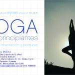 Taller Yoga para principiantes (trabajo de respiración y posturas)