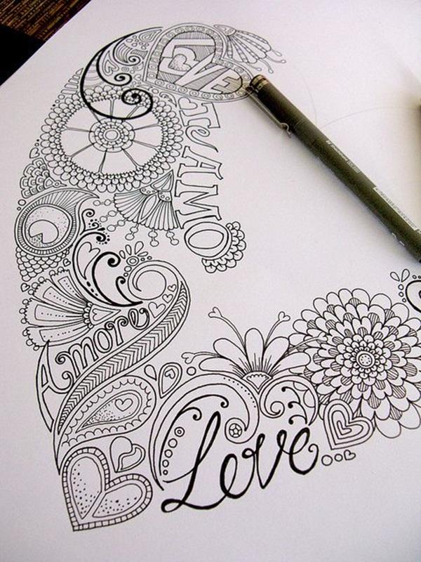 40 Beautiful Doodle Art Ideas Bored Art