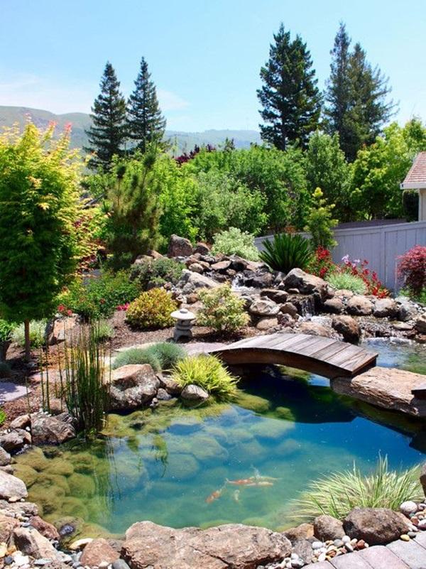 30 Elegant Backyard Pond Ideas on Yard Ponds Ideas id=64350