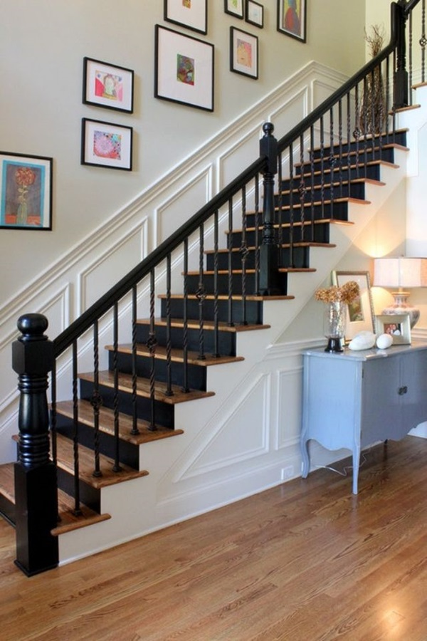 40 Must Try Stair Wall Decoration Ideas on Creative Staircase Wall Decorating Ideas  id=33740