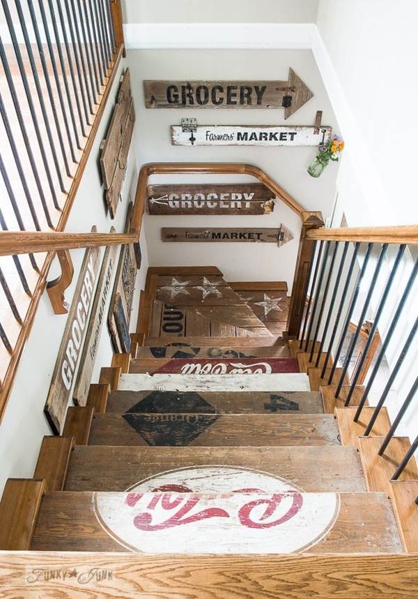 40 Must Try Stair Wall Decoration Ideas on Creative Staircase Wall Decorating Ideas  id=47652