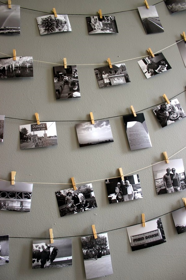 40 Unique Wall Photo Display Ideas For You on Creative Wall Ideas  id=51842