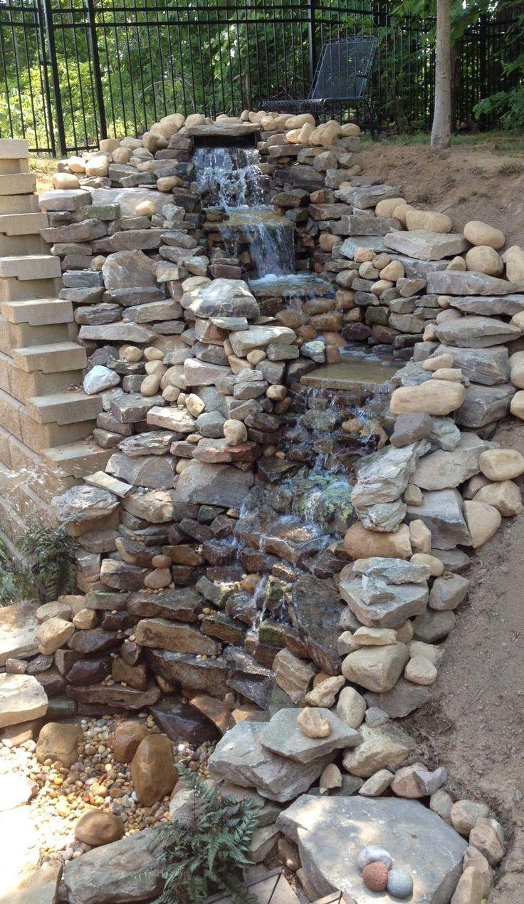 Beautiful Backyard Waterfalls That Will Beckon You To Look ... on Small Backyard Pond With Waterfall  id=94800