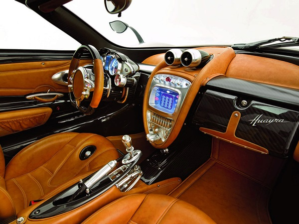 40 Inspirational Car Interior Design Ideas   Bored Art 2011 Pagani Huayra Custom interior car design