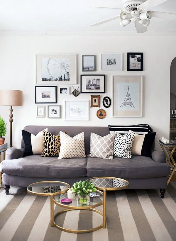 40 Simple But Fashionable Living Room Wall Decoration ... on Wall Decoration Ideas  id=52368