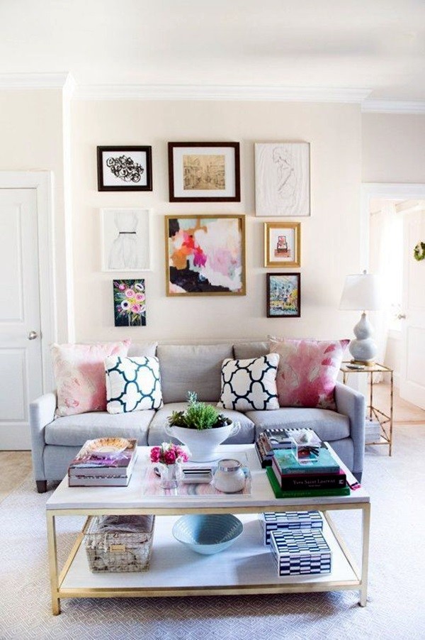 40 Simple But Fashionable Living Room Wall Decoration ... on Room Decoration Ideas  id=45234