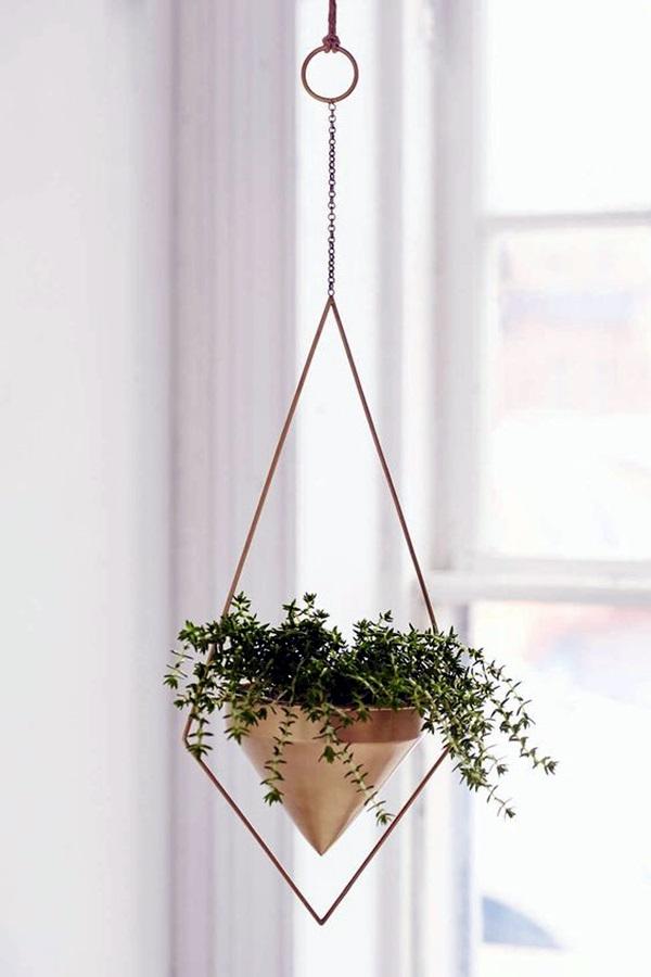 40 Elegant DIY Hanging Planter Ideas For Indoors - Bored Art on Hanging Plant Pots Indoor  id=35992