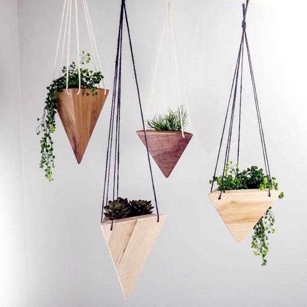 40 Elegant DIY Hanging Planter Ideas For Indoors - Bored Art on Hanging Plant Pots Indoor  id=26863