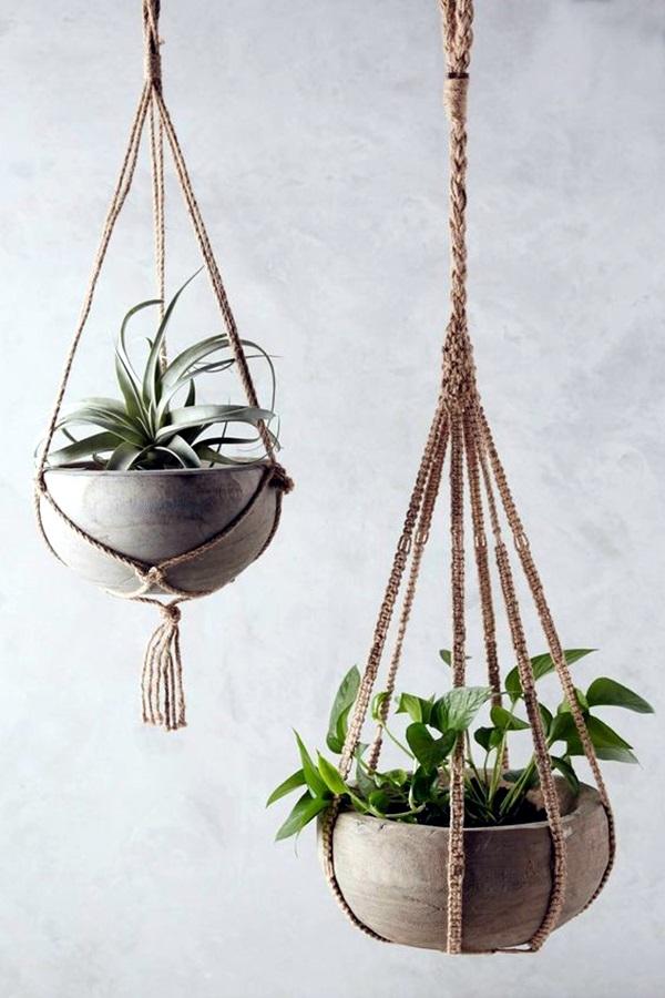 40 Elegant DIY Hanging Planter Ideas For Indoors - Bored Art on Plant Hanging Ideas  id=80671