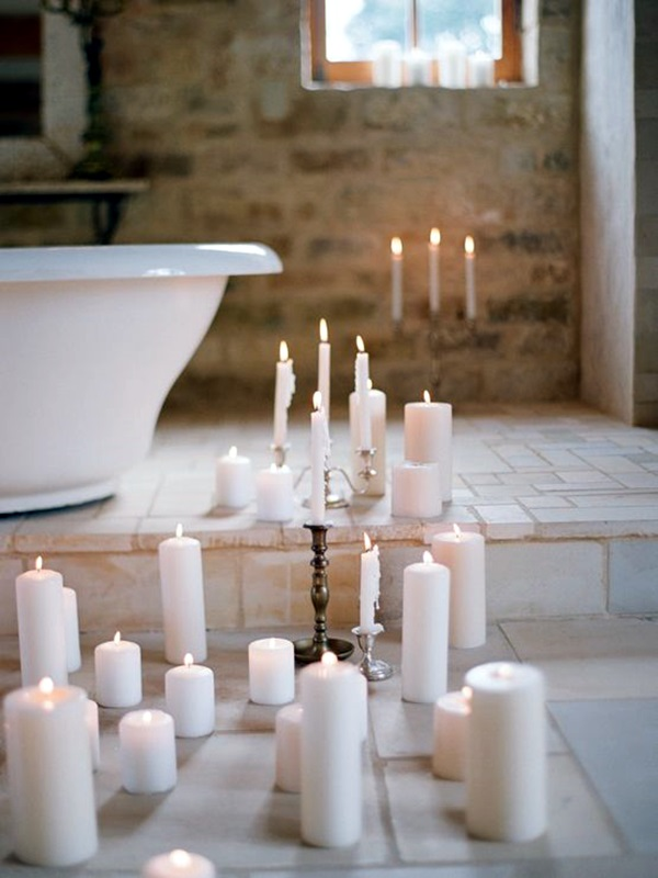 40 Ways To Use Candles In Bathroom For Special Nights