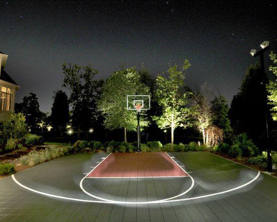 Half Court Basketball Dimensions Backyard