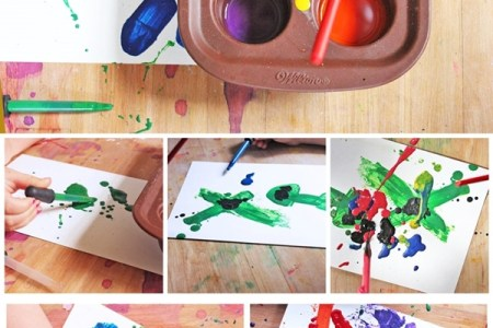 How To Make Paint Out Of Crayons Glue 1