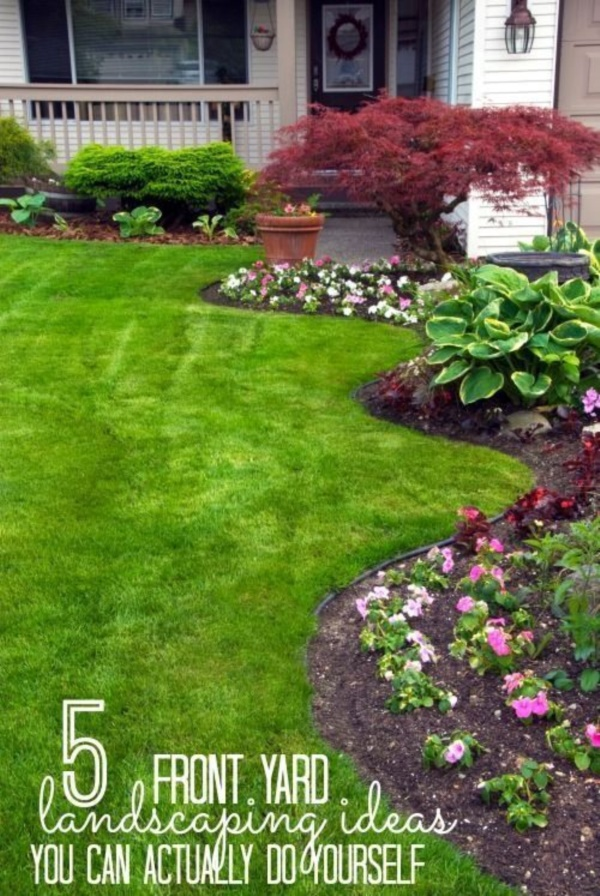 40 Beautiful Small Front Yard Landscaping Ideas - Bored Art on Small Yard Landscaping id=55555