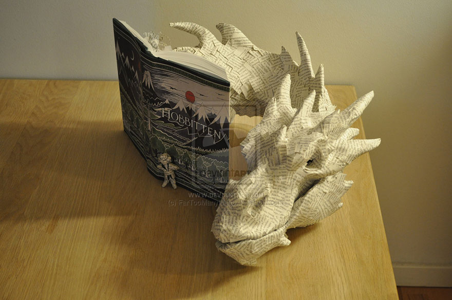 paper-sculpture-smaug-the-dragon-hobbit-fartoomanyideas-1
