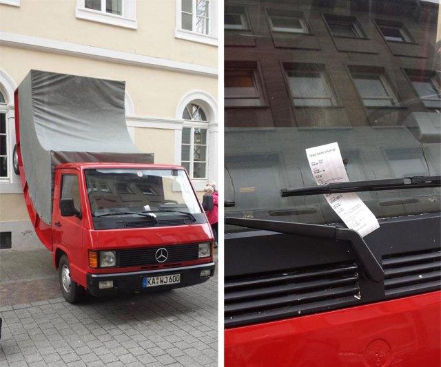 camion-doblado-erwin-wurm-alemania (3)