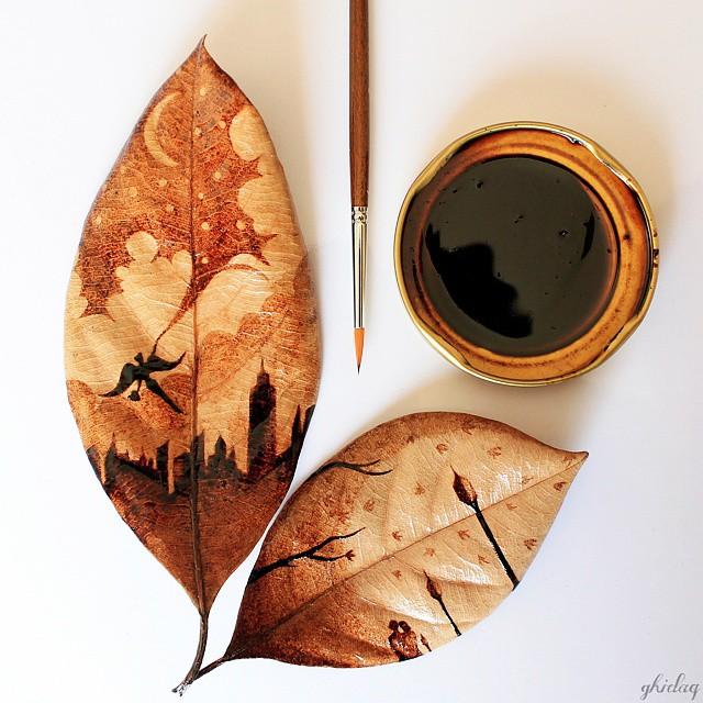 pintura-hojas-secas-posos-cafe-ghidaq-al-nizar-zerowastecoffee (16)