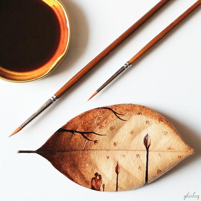pintura-hojas-secas-posos-cafe-ghidaq-al-nizar-zerowastecoffee (6)