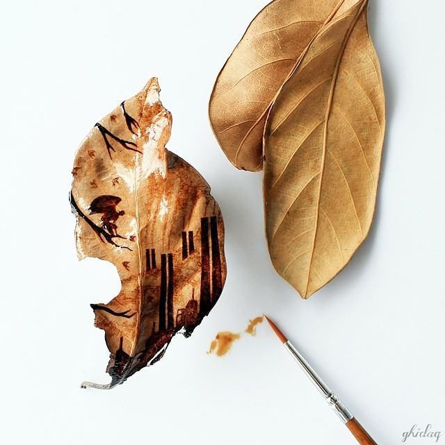 pintura-hojas-secas-posos-cafe-ghidaq-al-nizar-zerowastecoffee (7)