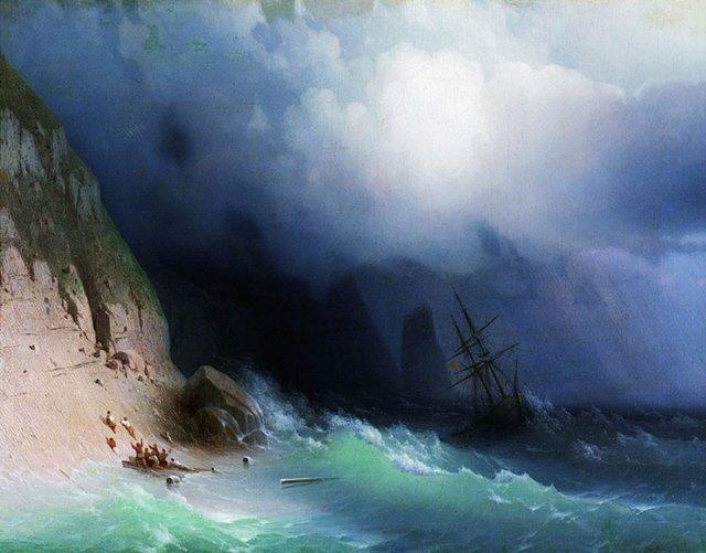 pintura-olas-mar-barcos-ivan-konstantinovich aivazovsky (1)