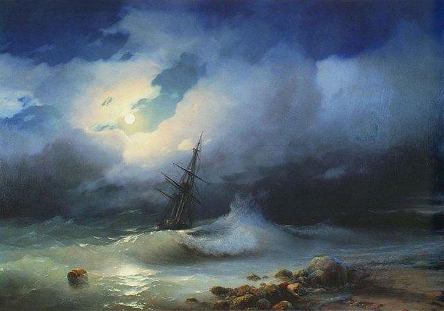 pintura-olas-mar-barcos-ivan-konstantinovich aivazovsky (5)