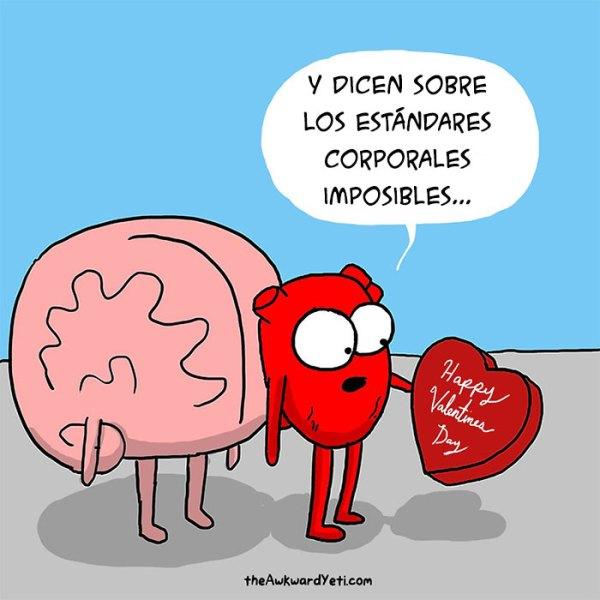 Corazón contra cerebro: Este divertido webcómic muestra la ...
