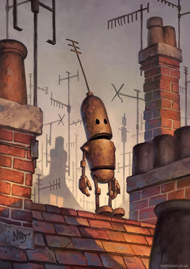 Pinturas-de-robots-solitarios-contemplando-el-mundo (9)