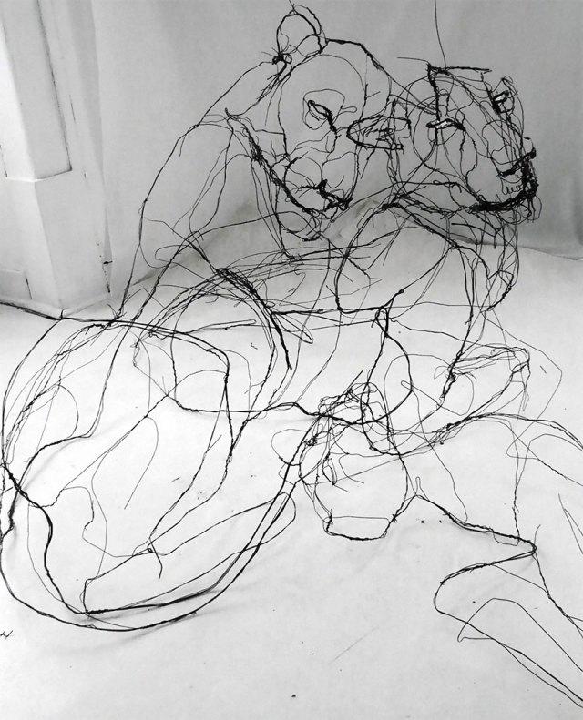 esculturas-animales-3d-alambre-david-oliveira (8)