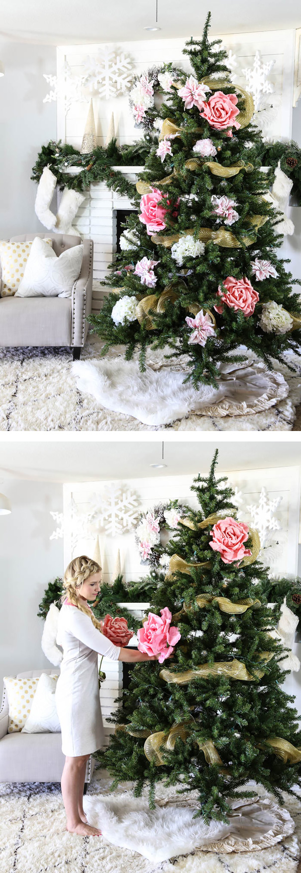 ideas-decoracion-arbol-navidad-flores (10)