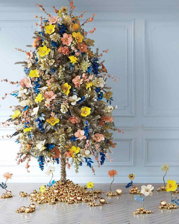 ideas-decoracion-arbol-navidad-flores (5)