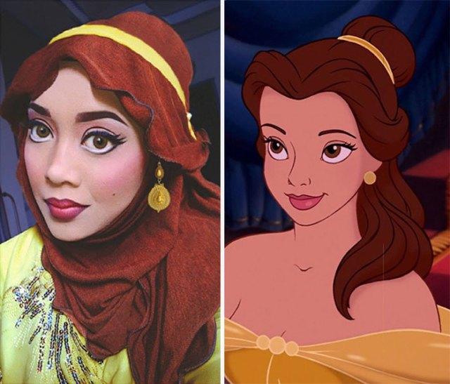 princesas-disney-maquillaje-hijab-saraswati (1)