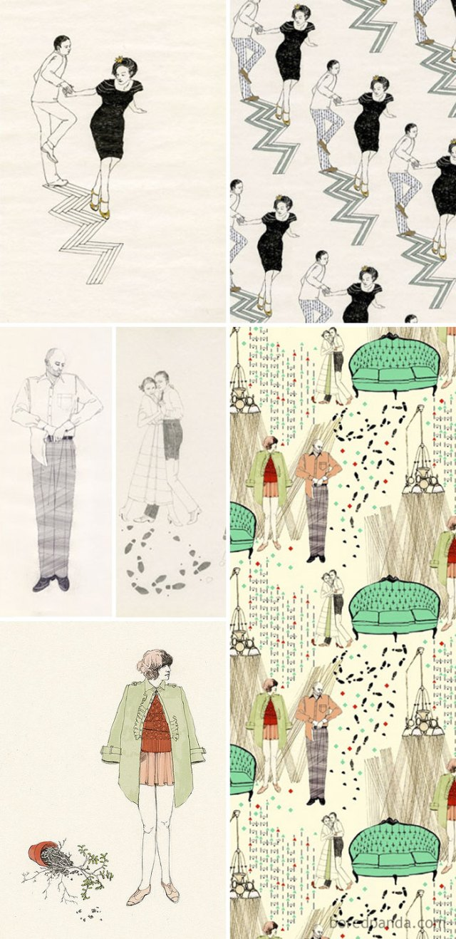 Dibujos De Lauren Nassef (Izquierda) Usados Sin Permiso En Las Obras De Samantha Beeston (Derecha)