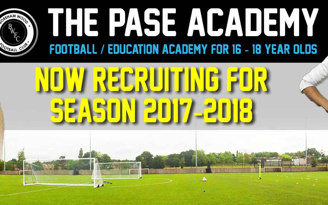 BOREHAM WOOD FC PASE TRIALS BEGIN FOR 2017