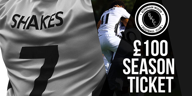 A £100 SEASON TICKET – WITH A 50/50 PAYMENT PLAN