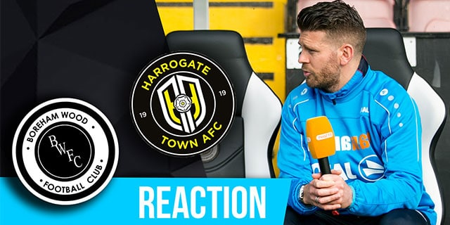 LUKE GARRARD REACTION – HARROGATE TOWN