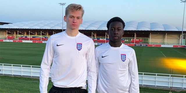 DUO REPORT FOR ENGLAND COLLEGES DUTY