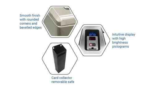 PoE Power Box Tripod Turnstile Rapide III Features Borer Access Control