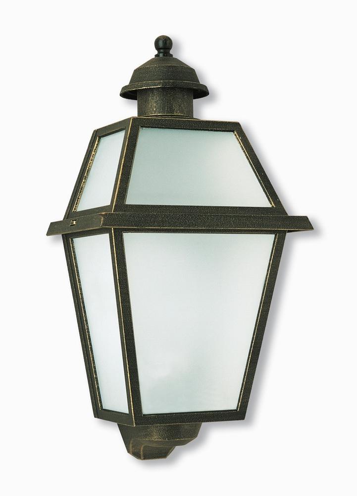 Mezza lanterna per esterno da parete marrone spazzolato in alluminio philips curassow 1738543pn, attacco per la lampadina e27 (grande), grado di protezione. Mezza Lanterna 50610 F2 Borghini Illuminotecnica Srl