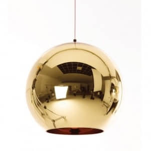 Lámpara de techo Huga dorada