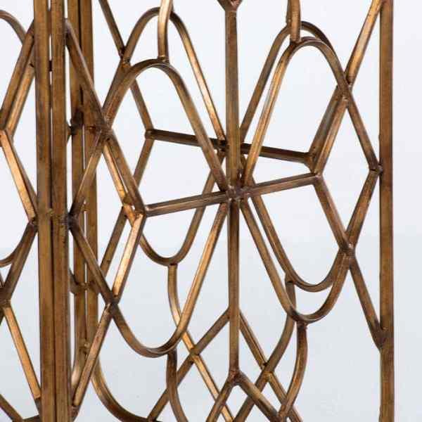 Mesa metal dorado/madera Katy