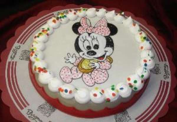 mini mouse kindertaart