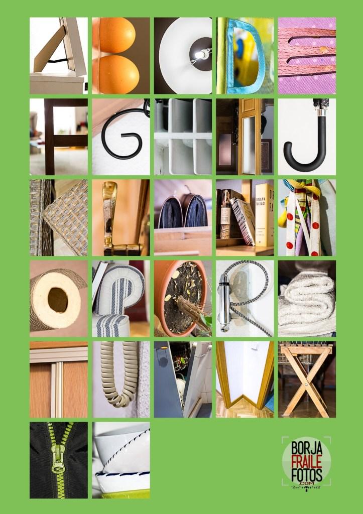 abecedario casa - Fotografía confinada
