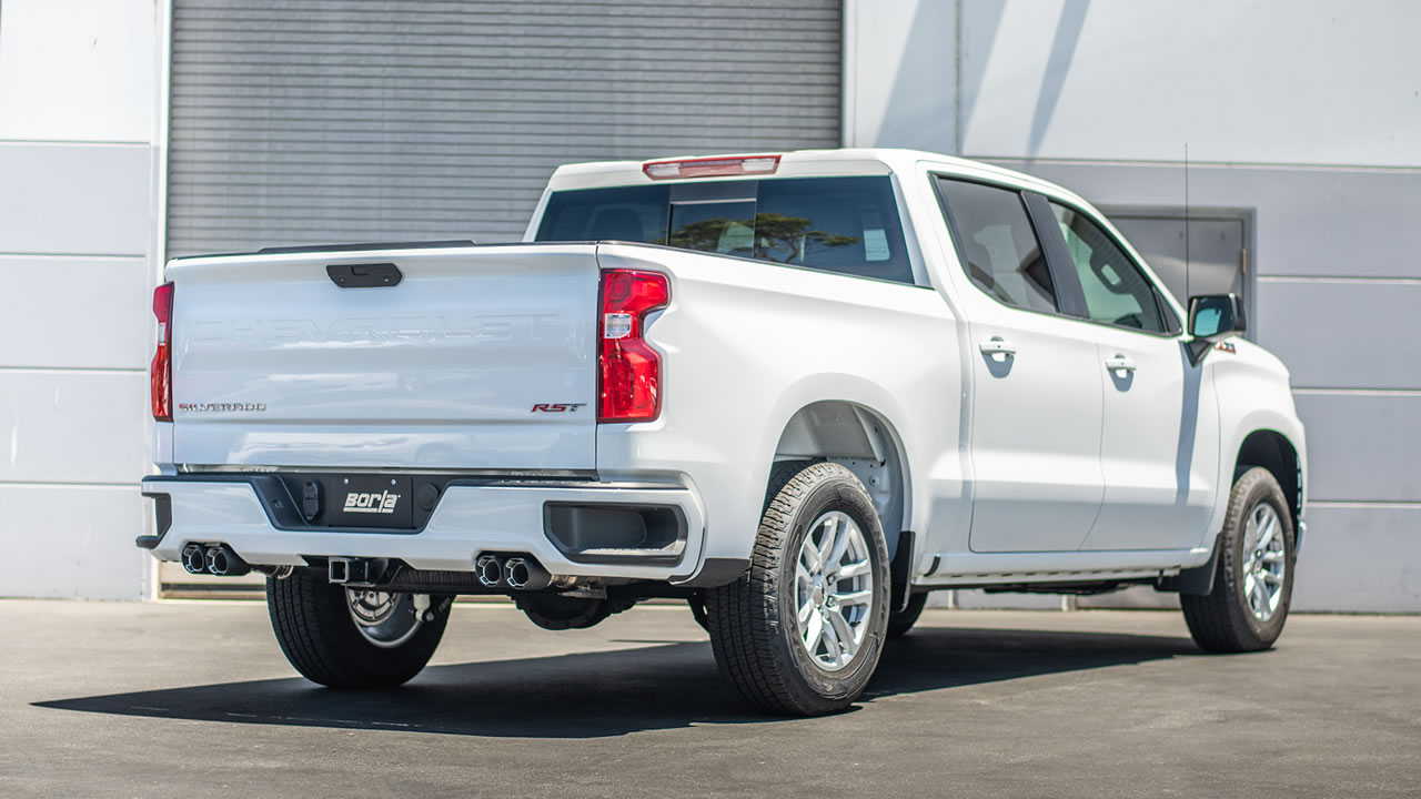 2019 2021 chevrolet silverado 1500 cat back exhaust system touring part 140768cf