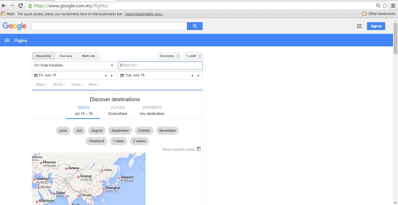 google flights � your search engine for cheapest airfare