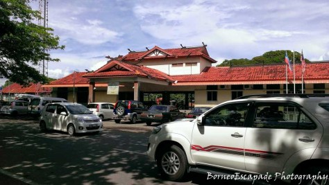 Train Station of Tenom. This is the last station on the Sabah State Railway.