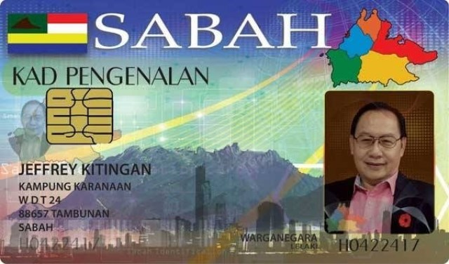 This proposed sample of the Sabah IC seems to be an initiative by Bingkor Assemblyman Dr Jeffrey Kitingan.